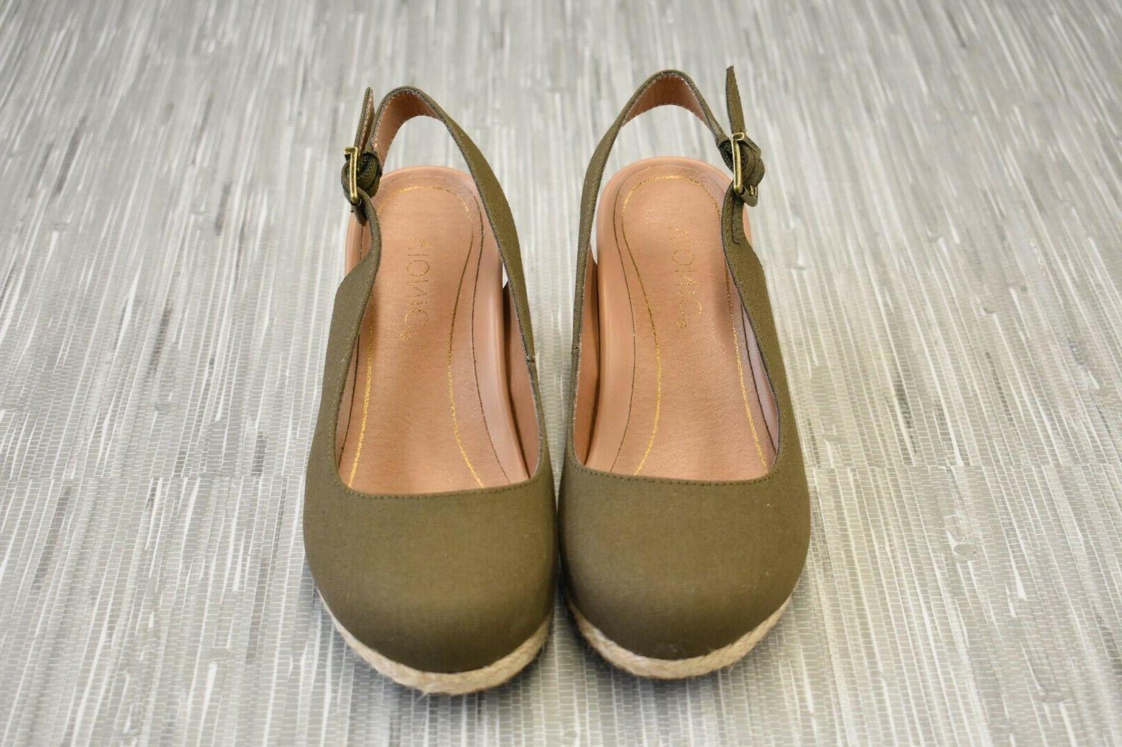 **Vionic Coralina Wedge Sandals, Women's Size Olive NEW