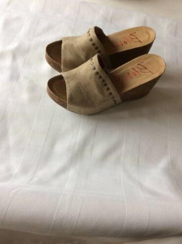 Blowfish DT Sand Canvas Women's Size 7.5