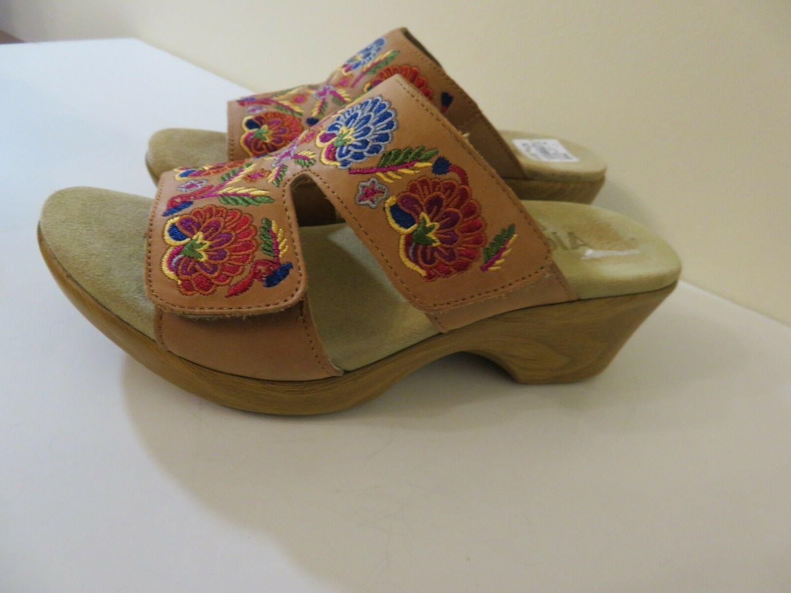 ALEGRIA EMBROIDERED WEDGE NEW 37 TO 7.5