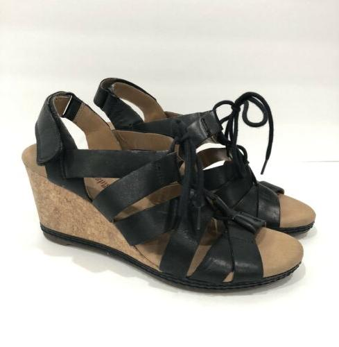 Clarks Helio Black Women's Wedge Collection Size 6