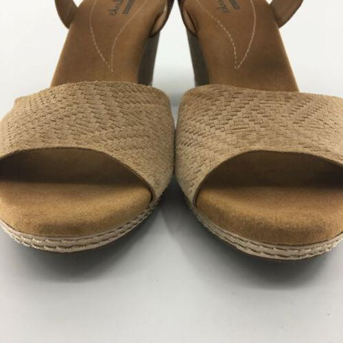Clarks Hello Strap Womens SZ Nude Suede
