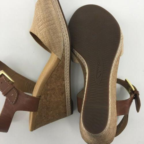 Clarks Hello Ankle Strap Womens SZ 7.5 Nude Suede NEW