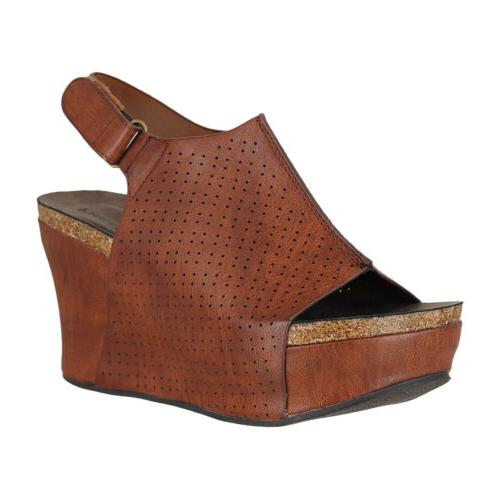 hester 16 whiskey womens wedge sandals size