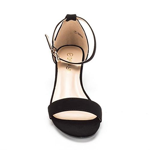 DREAM Women's Black Ankle Strap Low 11 M