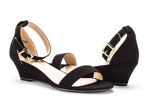 DREAM Women's Black Nubuck Ankle Strap Low