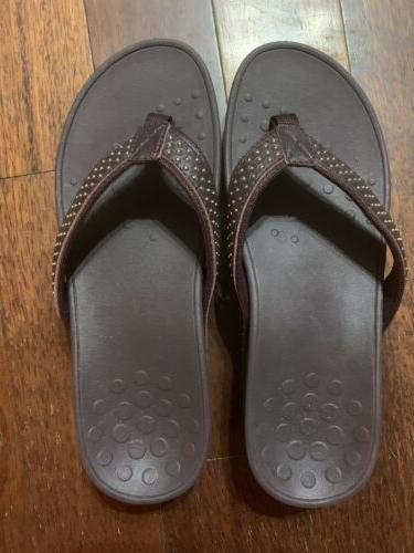 VIONIC Womens Studded Flip Flop 8 Podiatrist NEW