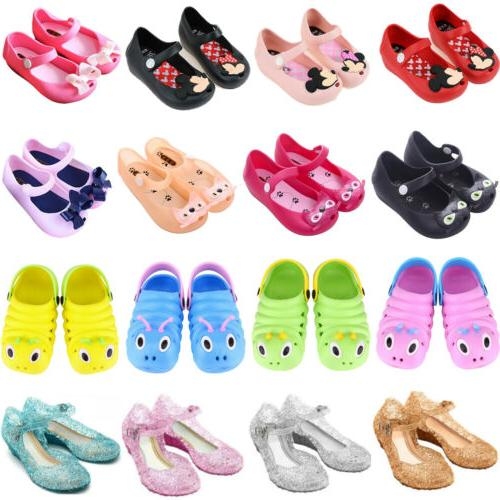 Kids Baby Girls Princess Jelly Shoes Party Summer Beach Todd