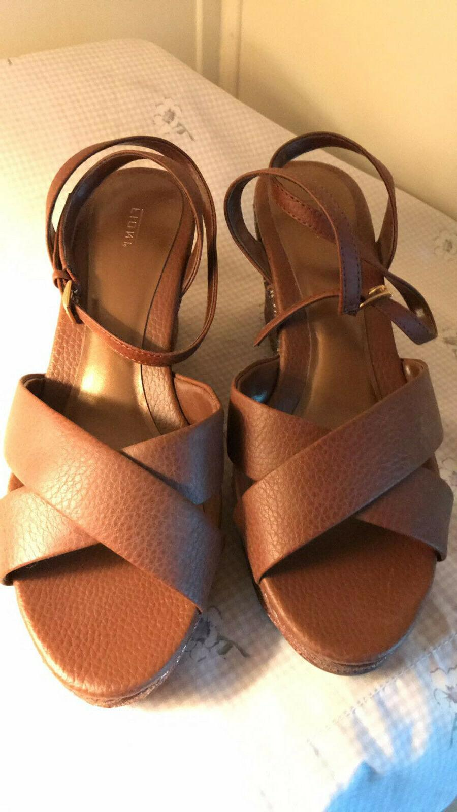LADIES WOMENS WEDGE SANDALS SZ ANKLE WOMENS SHOES FREE