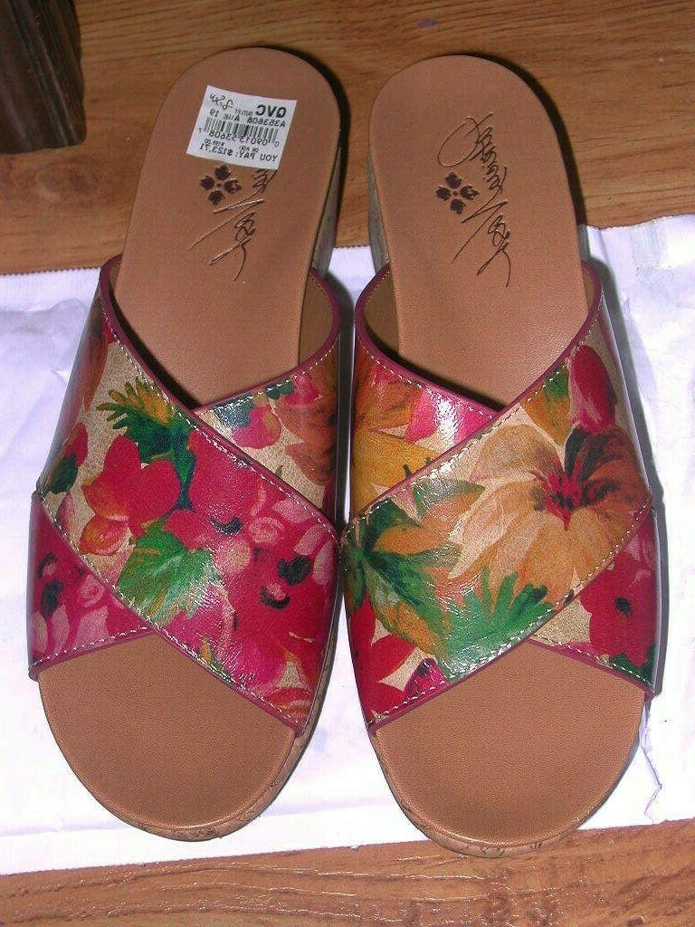 leather luca spring multi wedge sandals 8