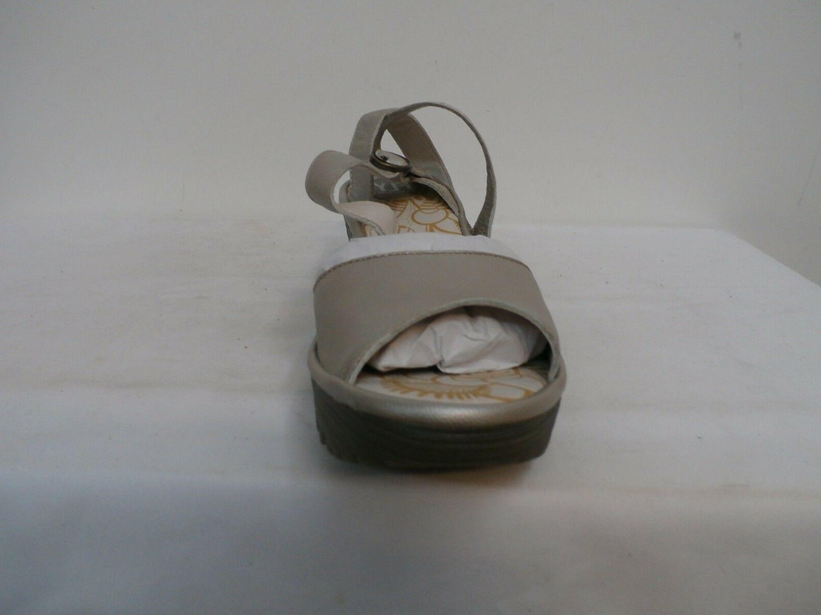 FLY London Multi-Strap Wedge Sandals silver