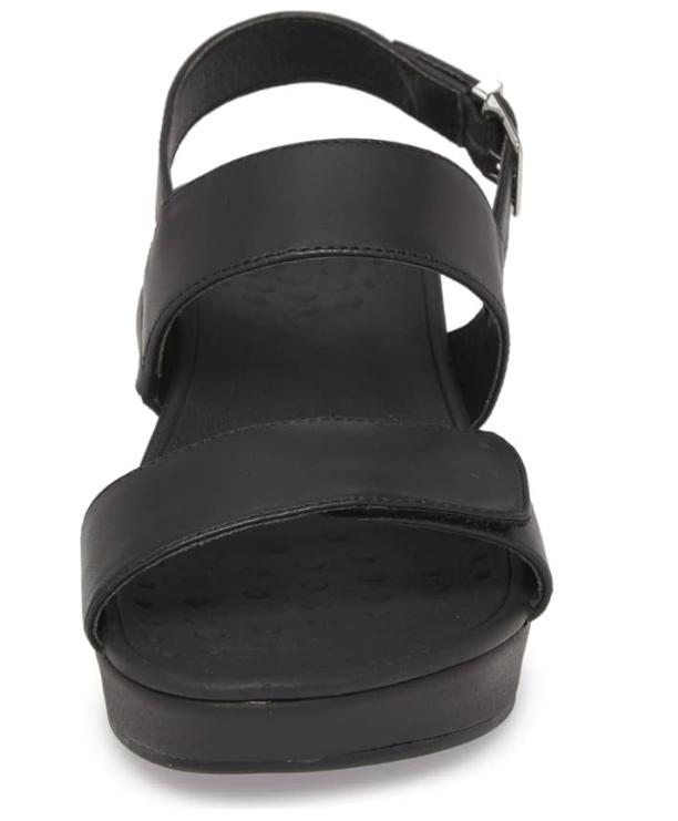 Vionic Lovell Strappy Wedge Black Womens 11M NEW