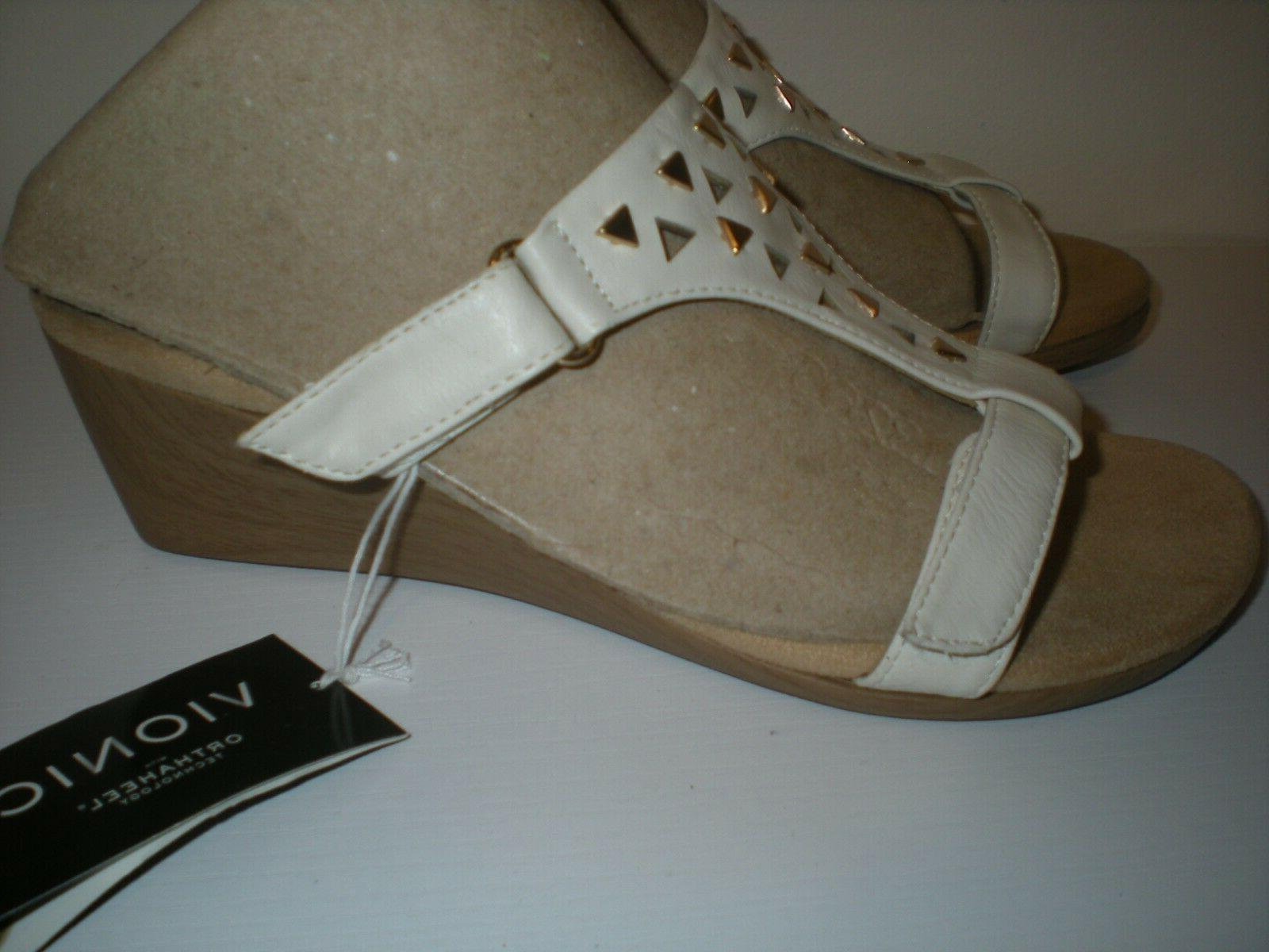 Studded Triangle Design Wedge Sandals Size