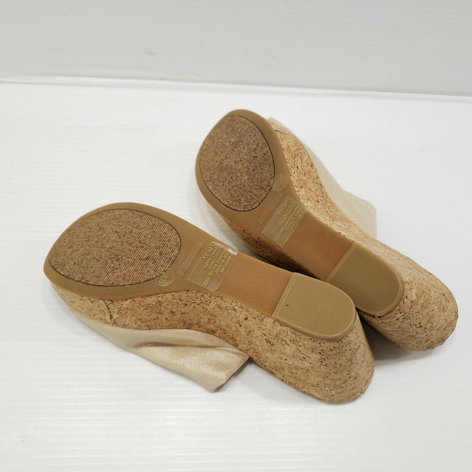 Lucky Brand Textile On Sandals Cork Size 7M