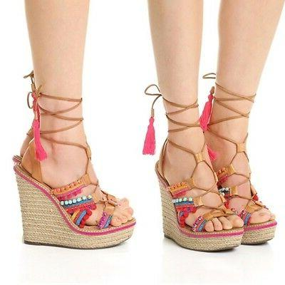 mella multi color bamboo jeweled leather lace