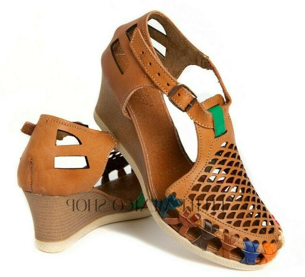 mexican sandals for women wedge huaraches chedron