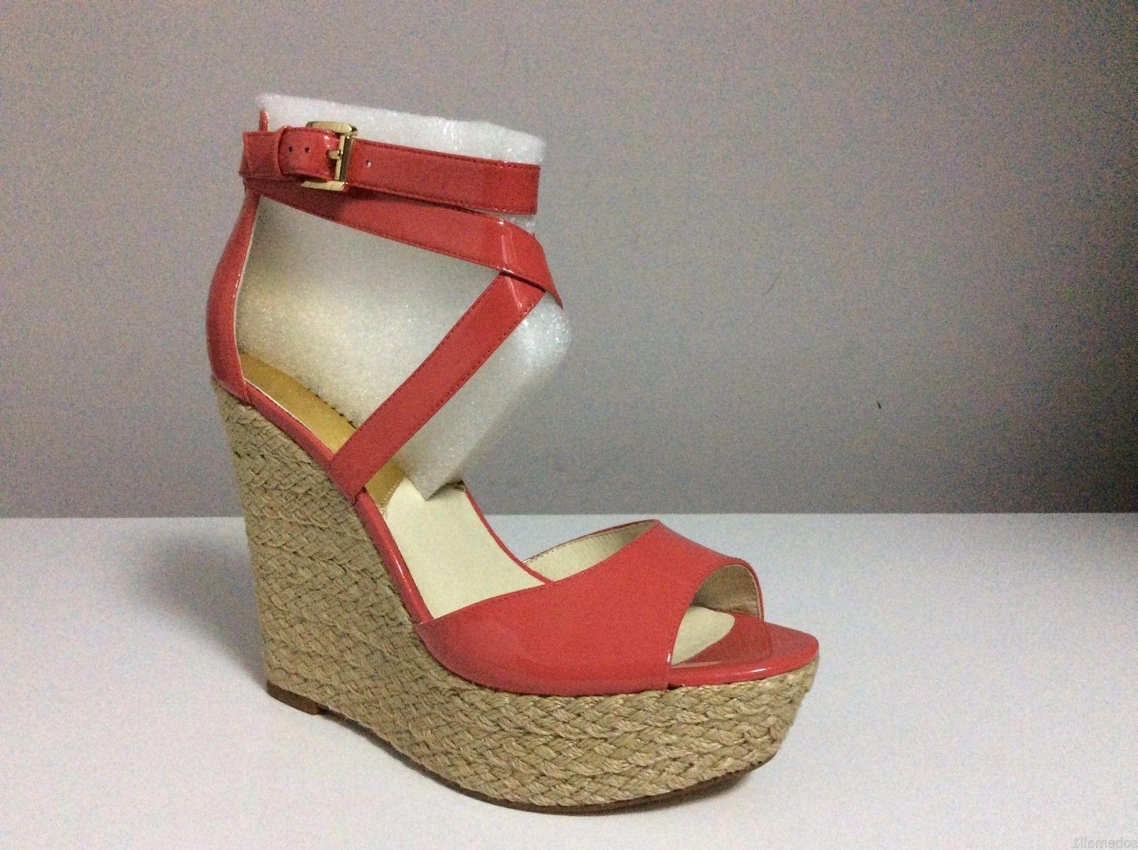 MICHAEL Kors Patent Leather Wedge Sandals 10