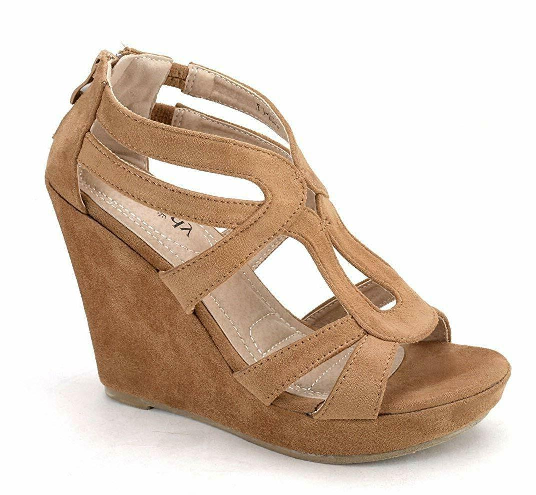 Mila Lady Zippered Platform Shoes