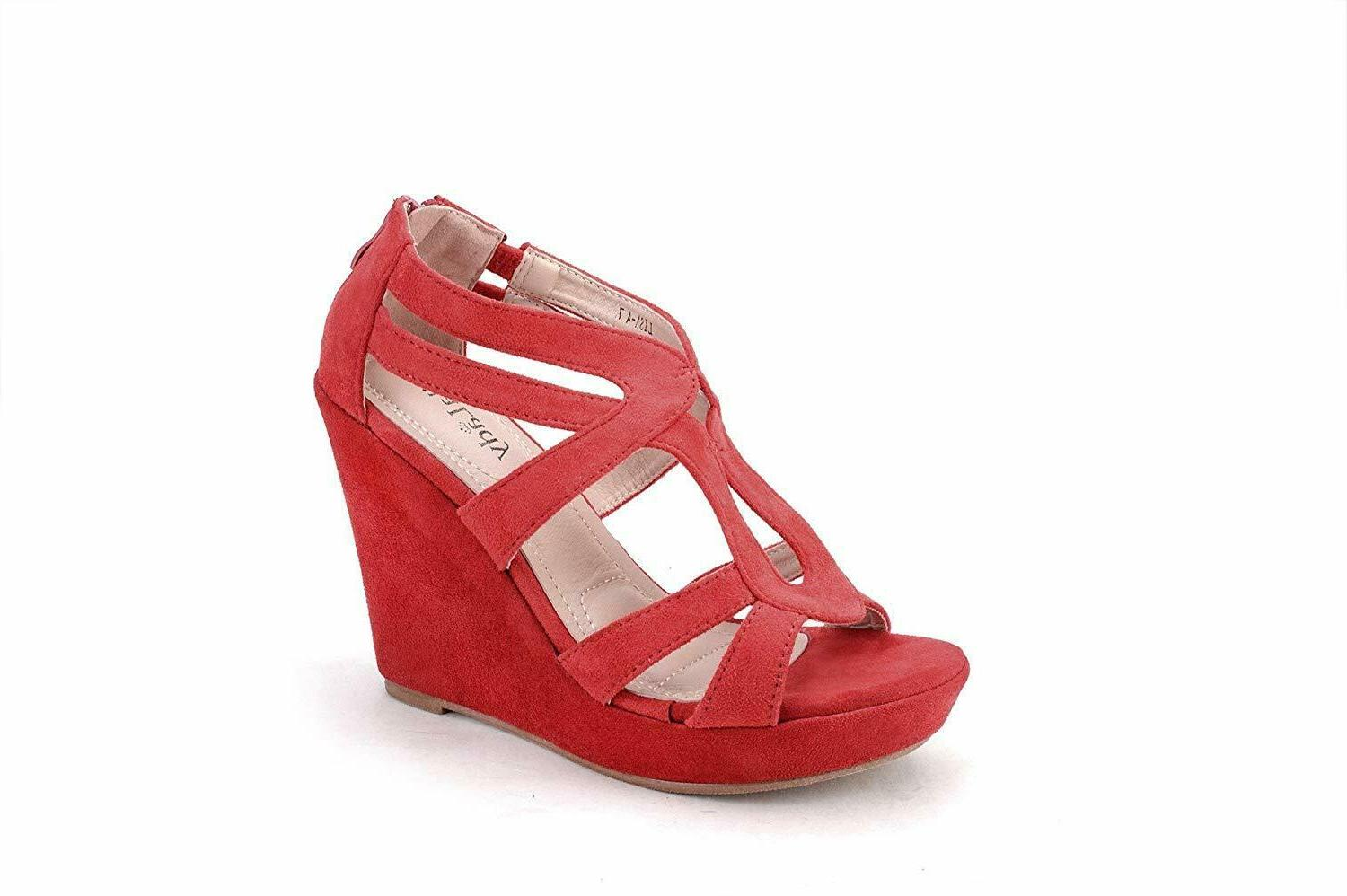 Mila Lady Zippered Platform Heeled Sandals Shoes