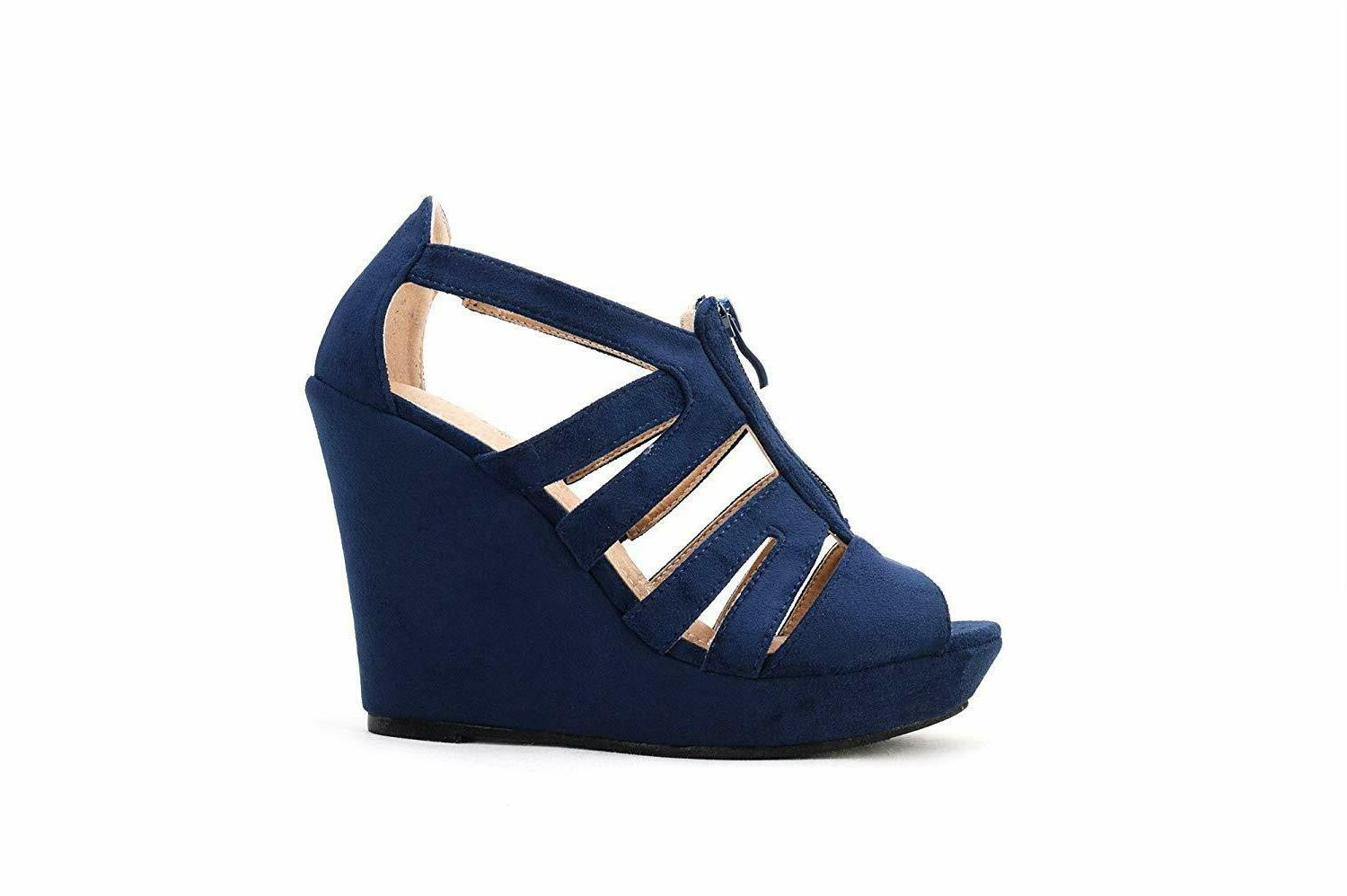 Zippered Strappy Toe Platform Shoes