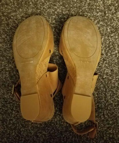 Lucky Moran Brown Leather Sandals 8.5 NWOB 💟