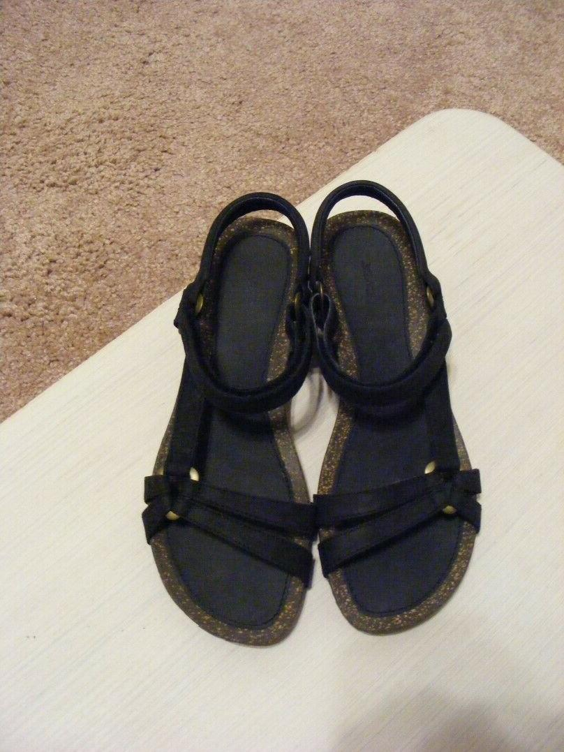 Never Ankle Leather Cork Wedge Size 8.5