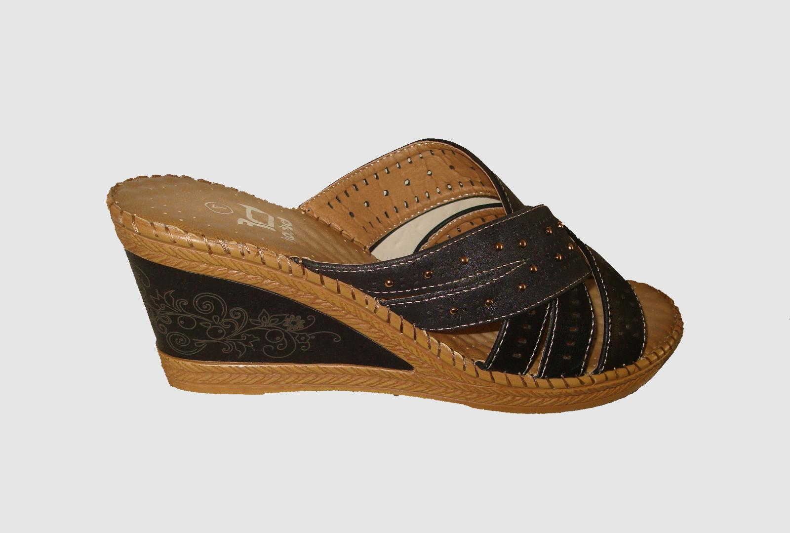 New Bentani  Sandal Black-Taupe Color Beautiful ON SALE NOW