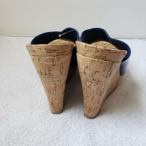 New Jessica 8 Blue Patent Wedges