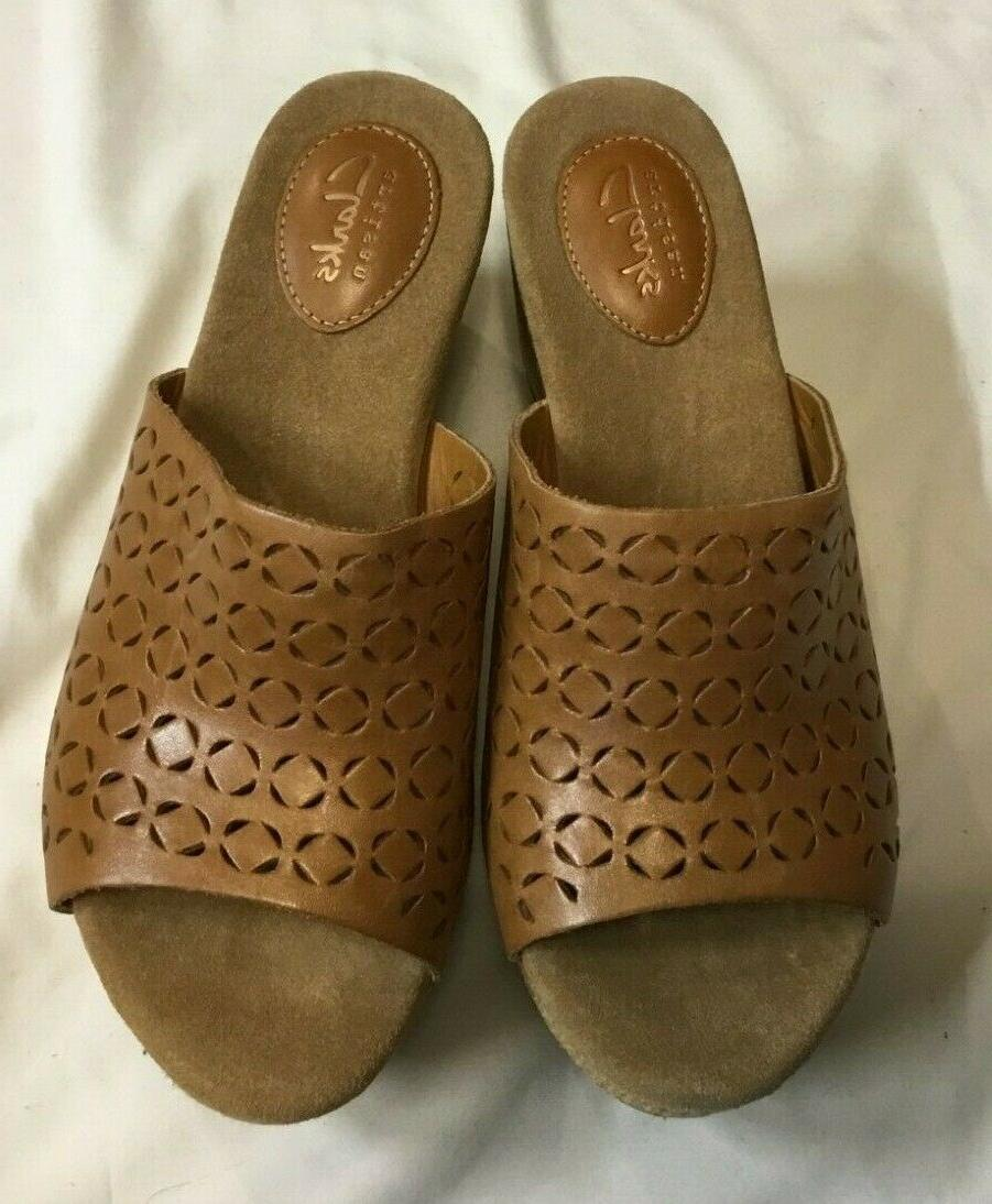 NEW DYLAN Tan Wedge Sandals 7