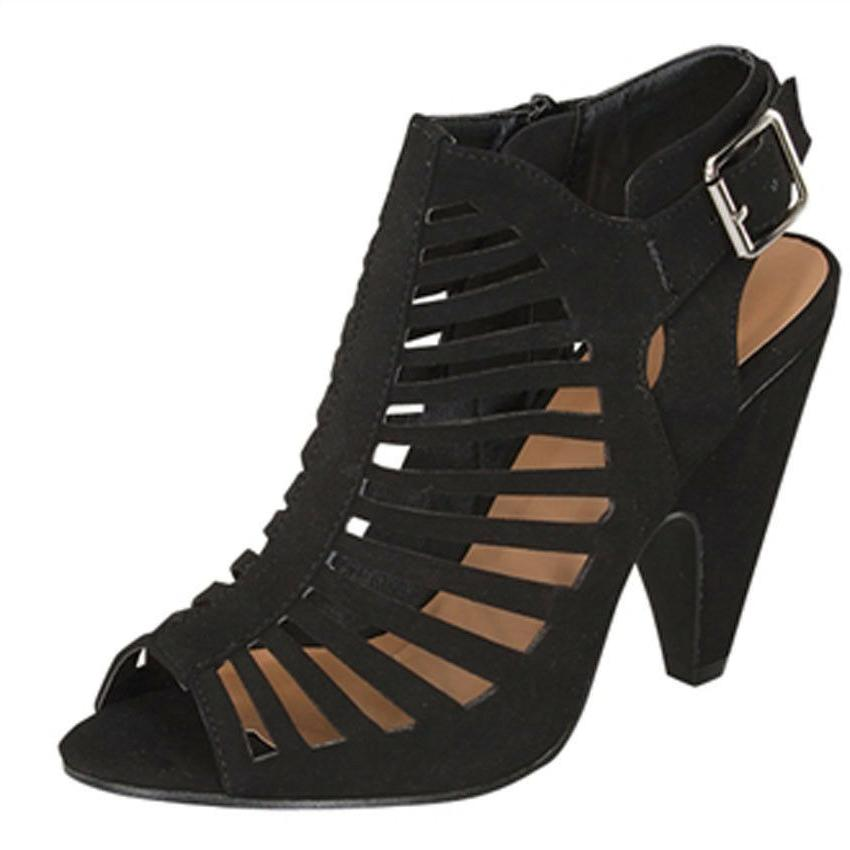 NEW CAGED Open Gladiator Strappy Ankle Platform