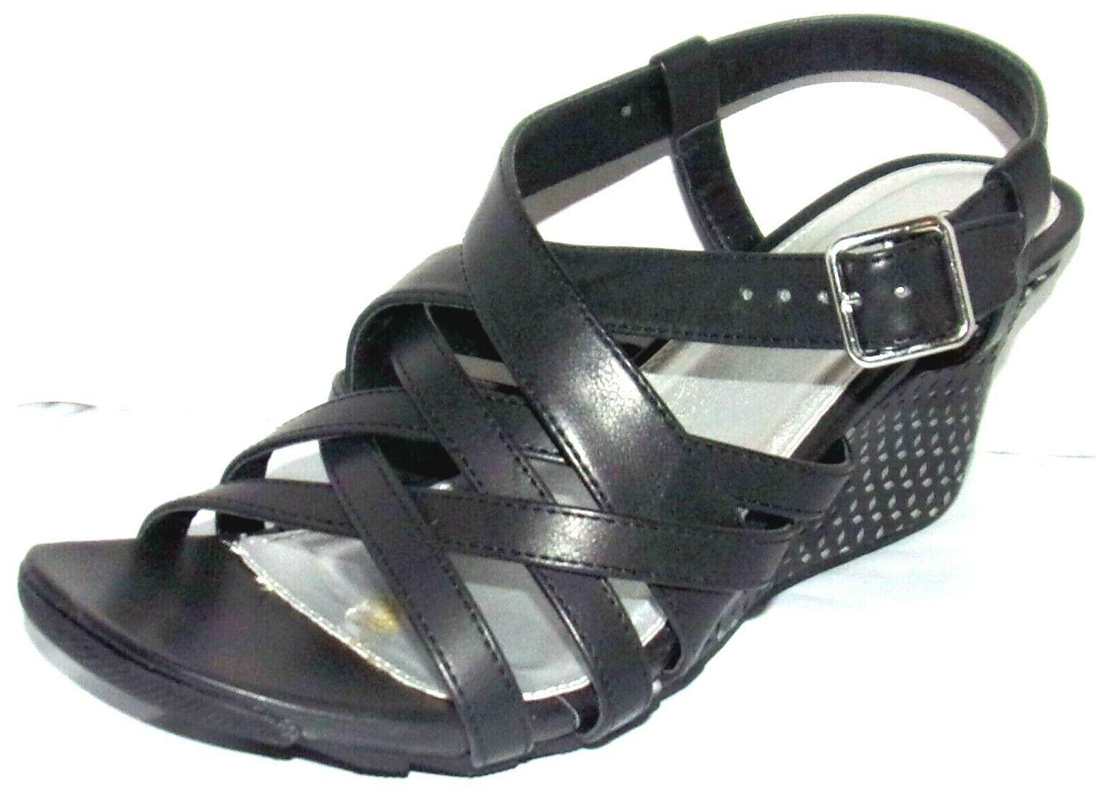 new cityscape black wedge sandals 10 w