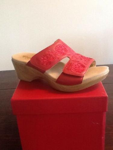 NEW ALEGRIA EMBROIDERED WEDGE SANDALS LINN SIZE EU, 8-8 1/2 US