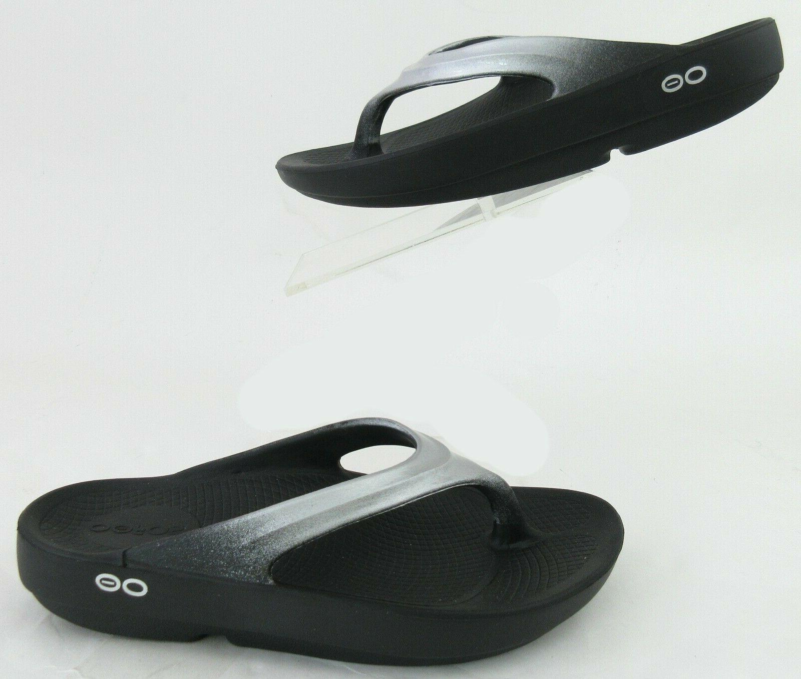 new oolala luxe thong recovery sandals black