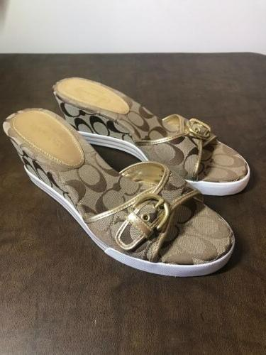 new perry wedge sandals shoes cc logo