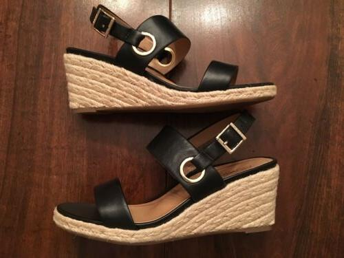 NEW Wedge Sandals 11 Black