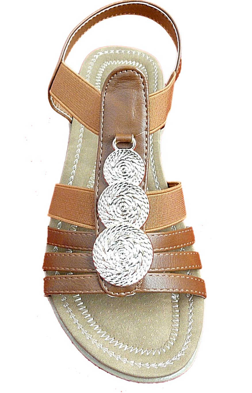 New Sandals Back Strap Color Tan/Wht/Blk #5-10