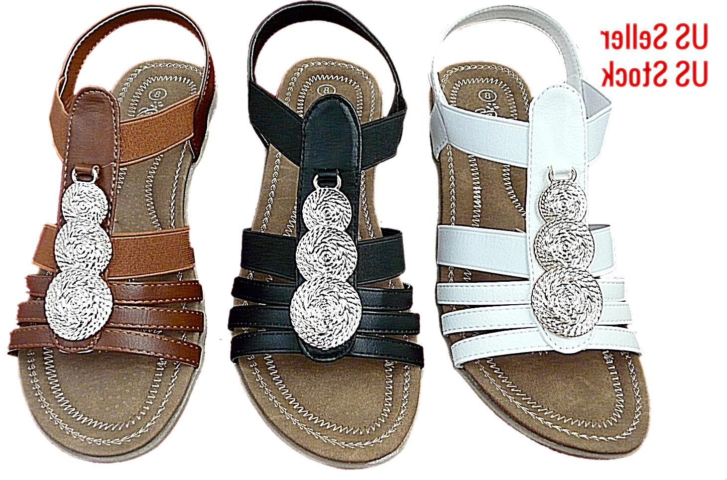 new women comfort wedge sandals back strap