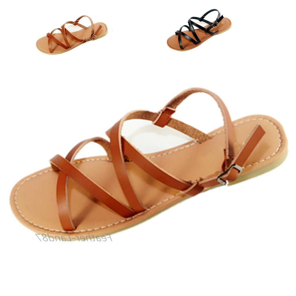 New Women Gladiator Shoes Thong T Strap Flip Strappy Toe