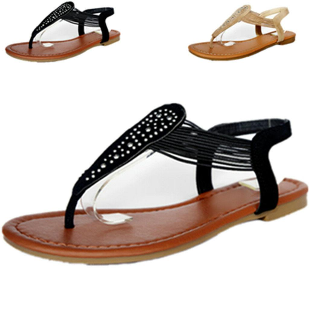 New Women Gladiator Shoes Flops Strap Strappy Toe