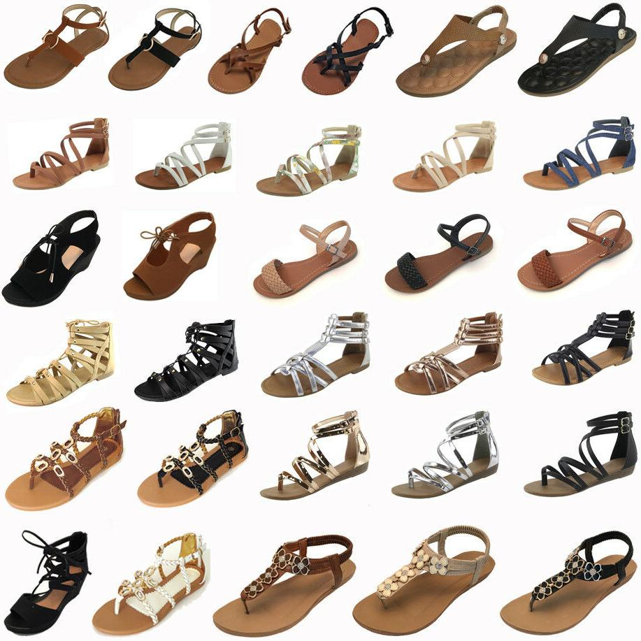 new women gladiator sandals shoes thong flops