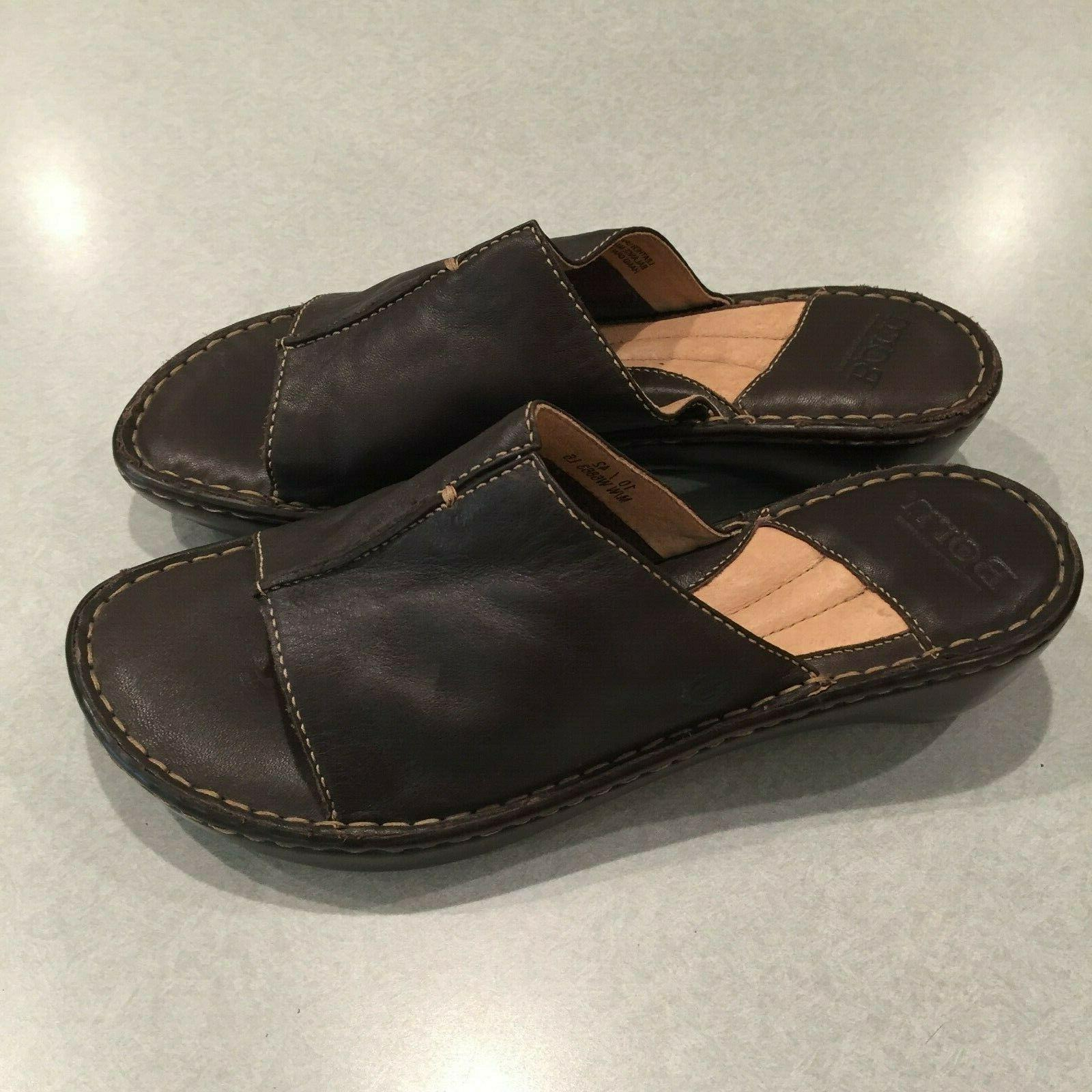"""""""NEW"""" BORN Leather Wedge Sandals Size 10 M/W /"""