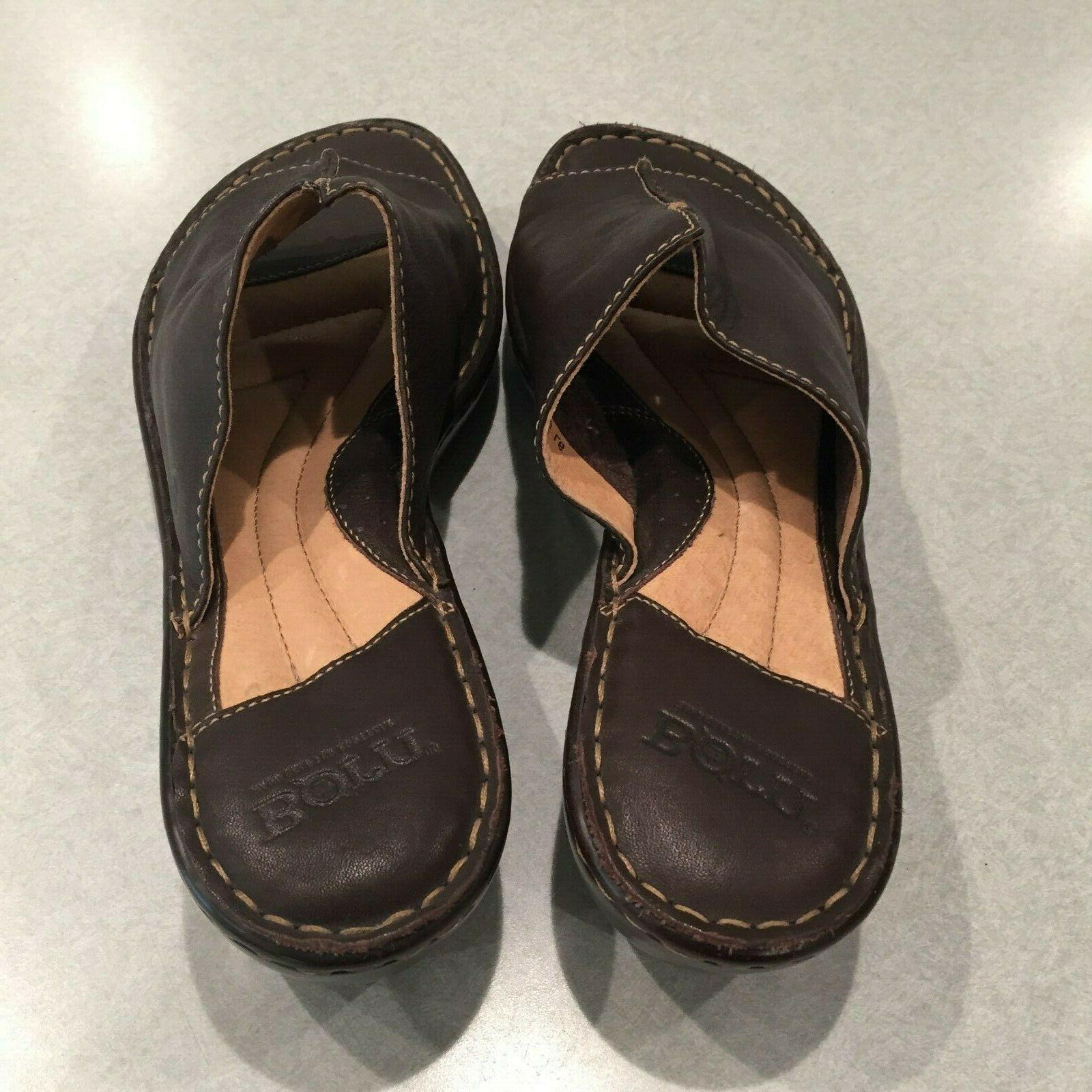 """Leather 2"""" Sandals Size M/W 42"""