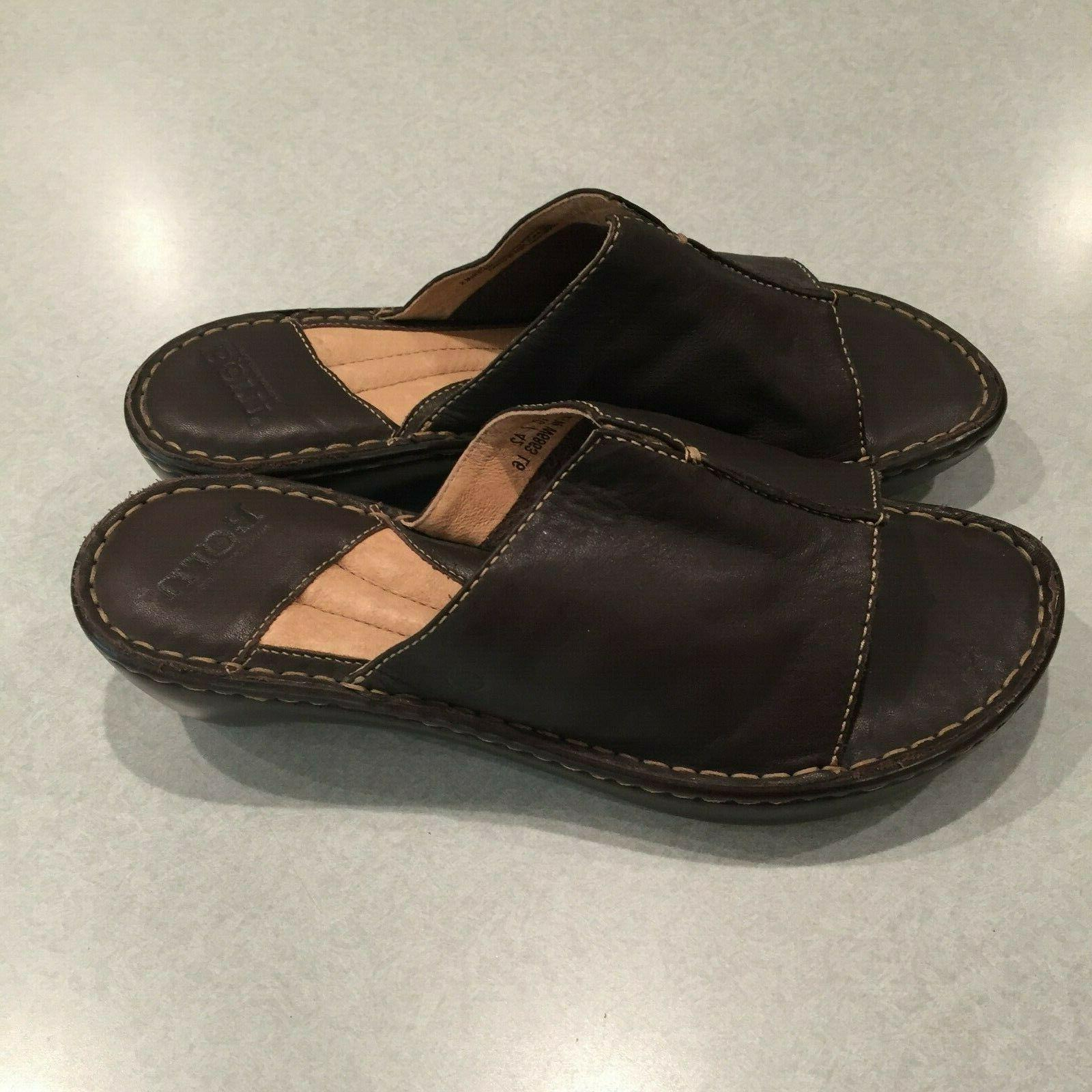 new women s brown leather 2 wedge