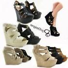 NEW Women's Fashion Dress Shoes Platforms Wedges Sandals Hee