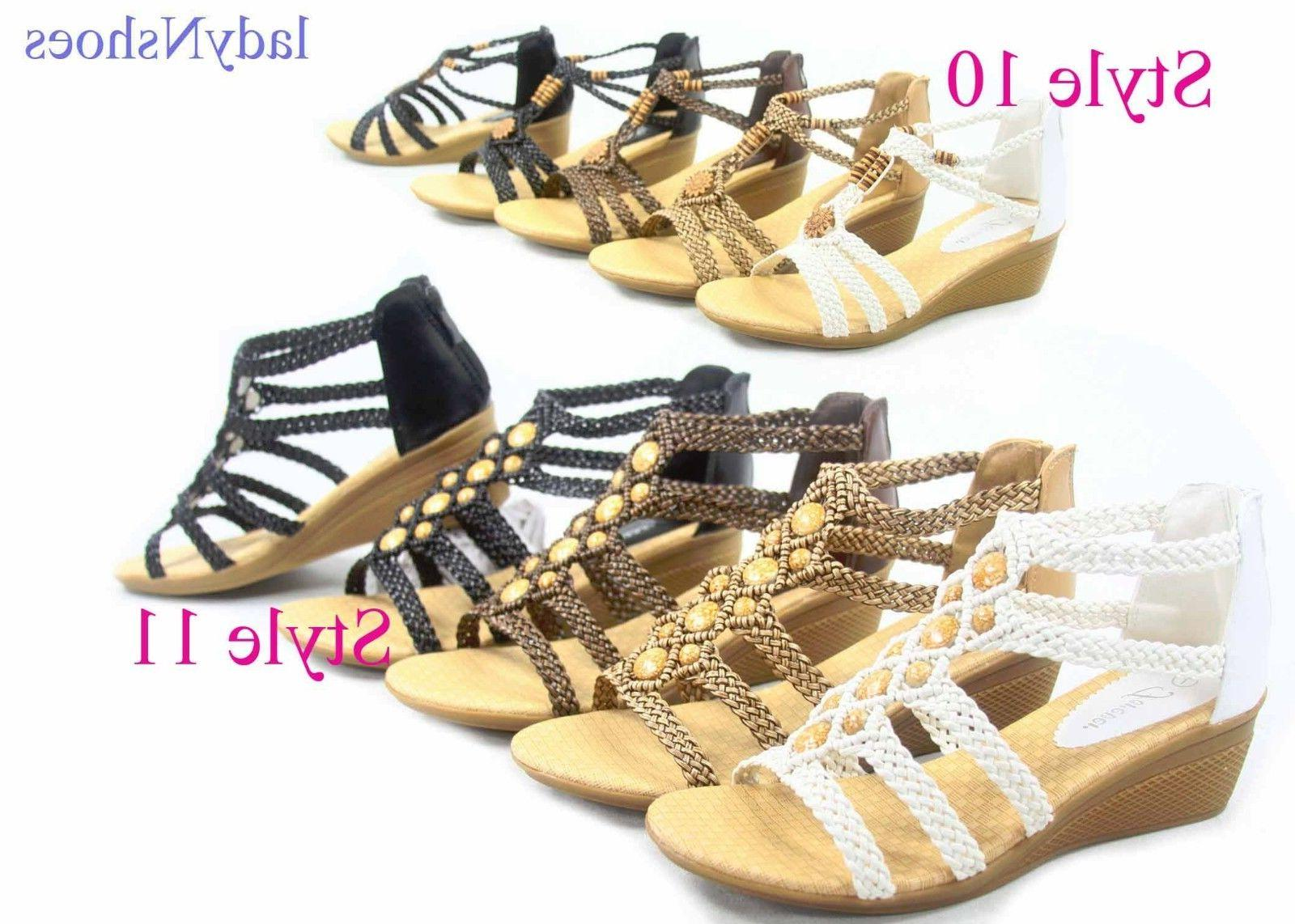 NEW Women's Ankle Strap Toe Braided Sandal Size 5 -