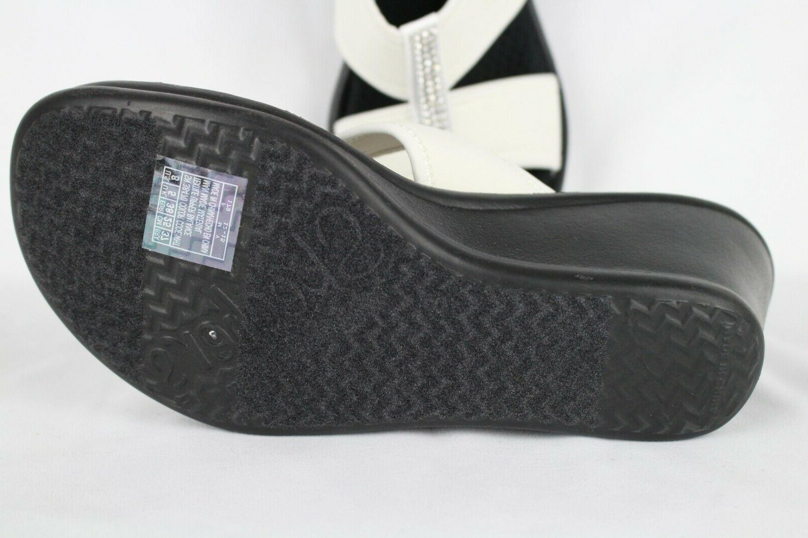 New Rumblers Risk Wedge Sandals White 38470