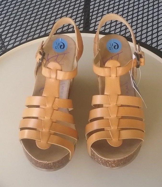 new slingback tan strappy wedge heel sandals