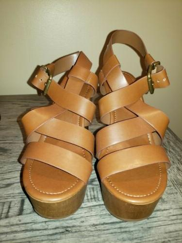 new women s tan wedge sandals size