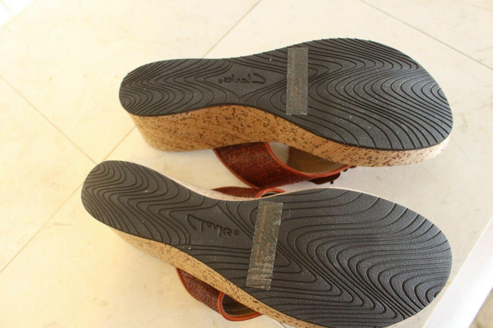 NEW WOMENS CLARKS SANDALS SIZE 10