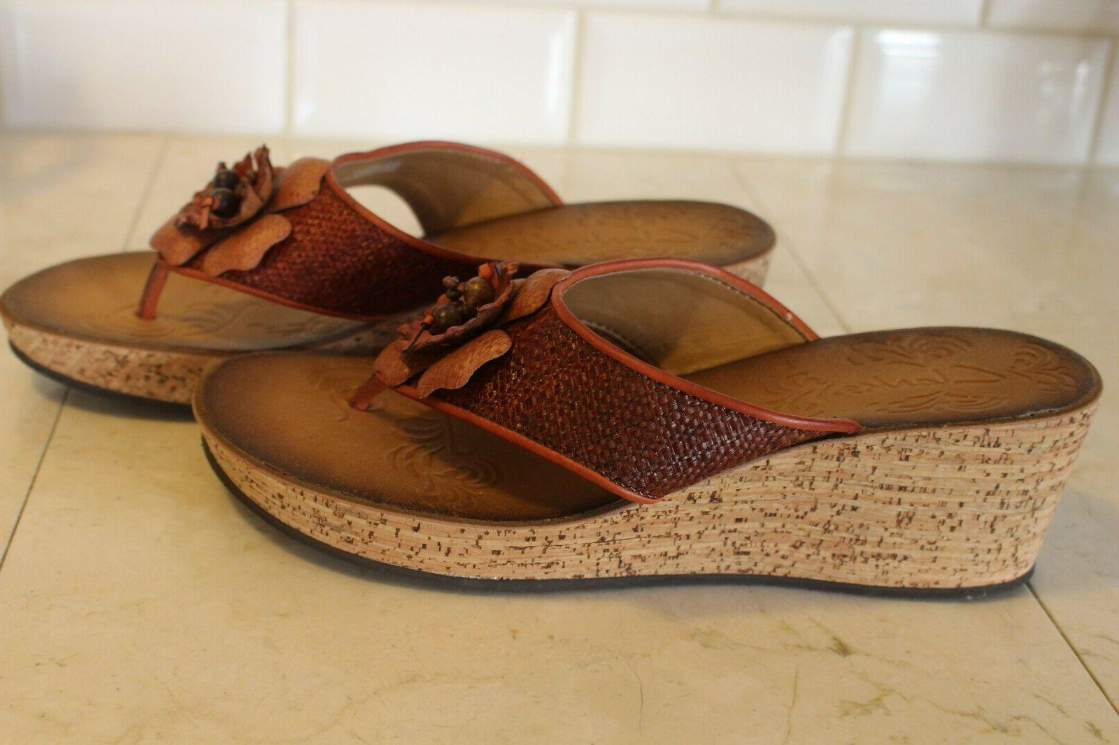 NEW CLARKS WEDGE SANDALS SIZE