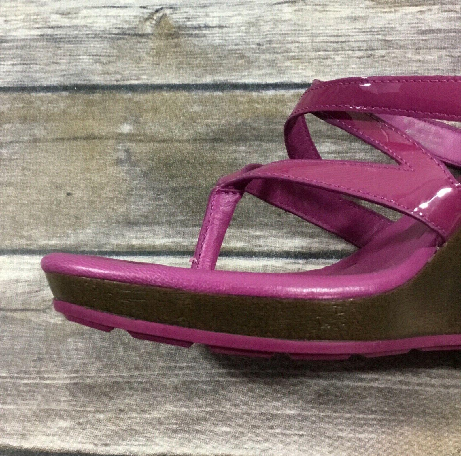 Cole NWOB Strappy 7.5B Purple Leather Slides